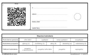 Vysvedcenie s QR kodom, zdroj www.dsl.sk